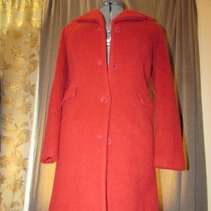 The Limited Red Wool & Mohair Coat